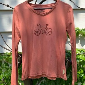 Life is good embroidered bicycle tee